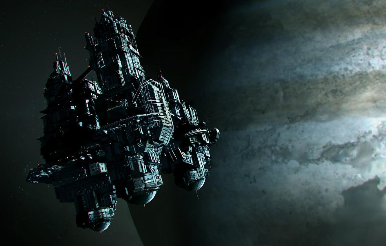 Photo wallpaper space, planet, space station, Alien: Isolation, sevastopol