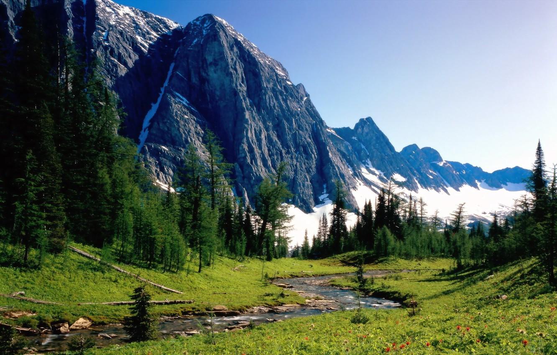 Photo wallpaper summer, mountains, nature