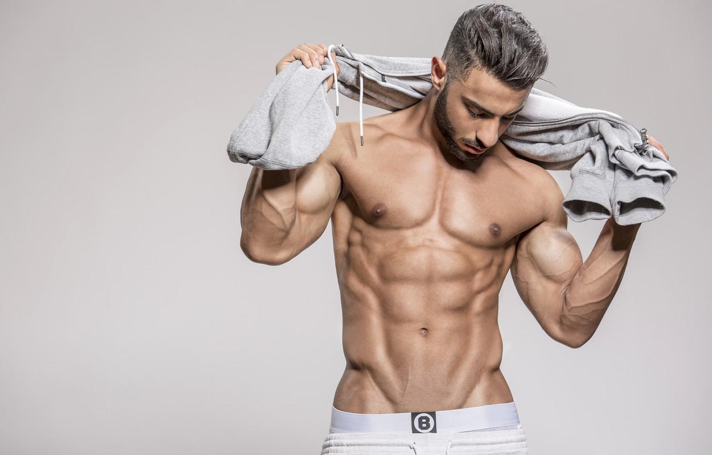Photo wallpaper muscle, men, abs