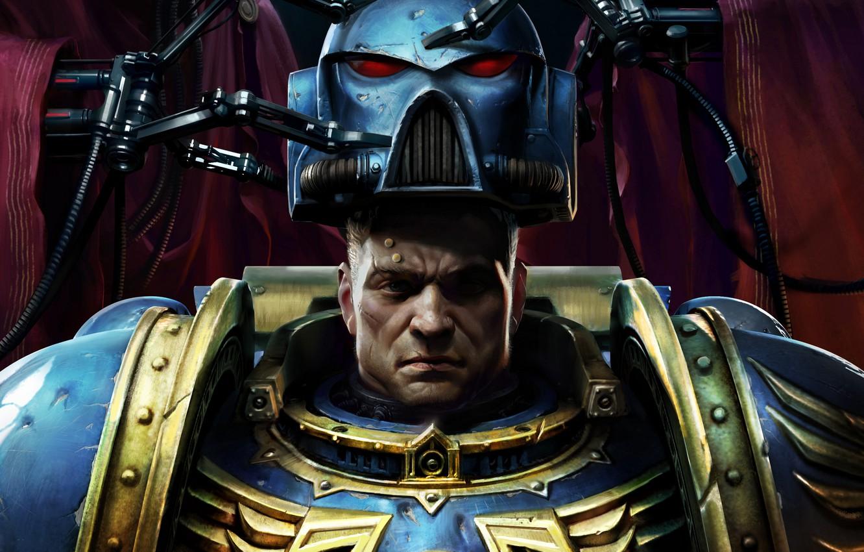 Photo wallpaper Helmet, Soldiers, Space Marine, Warhammer 40000, Warhammer