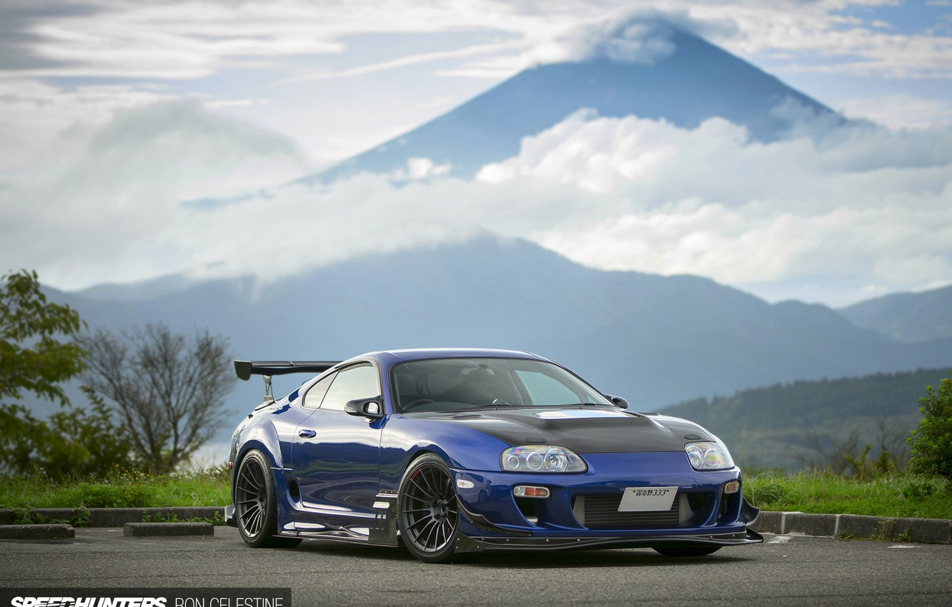 Photo wallpaper tuning, mountain, Japan, Toyota, Supra