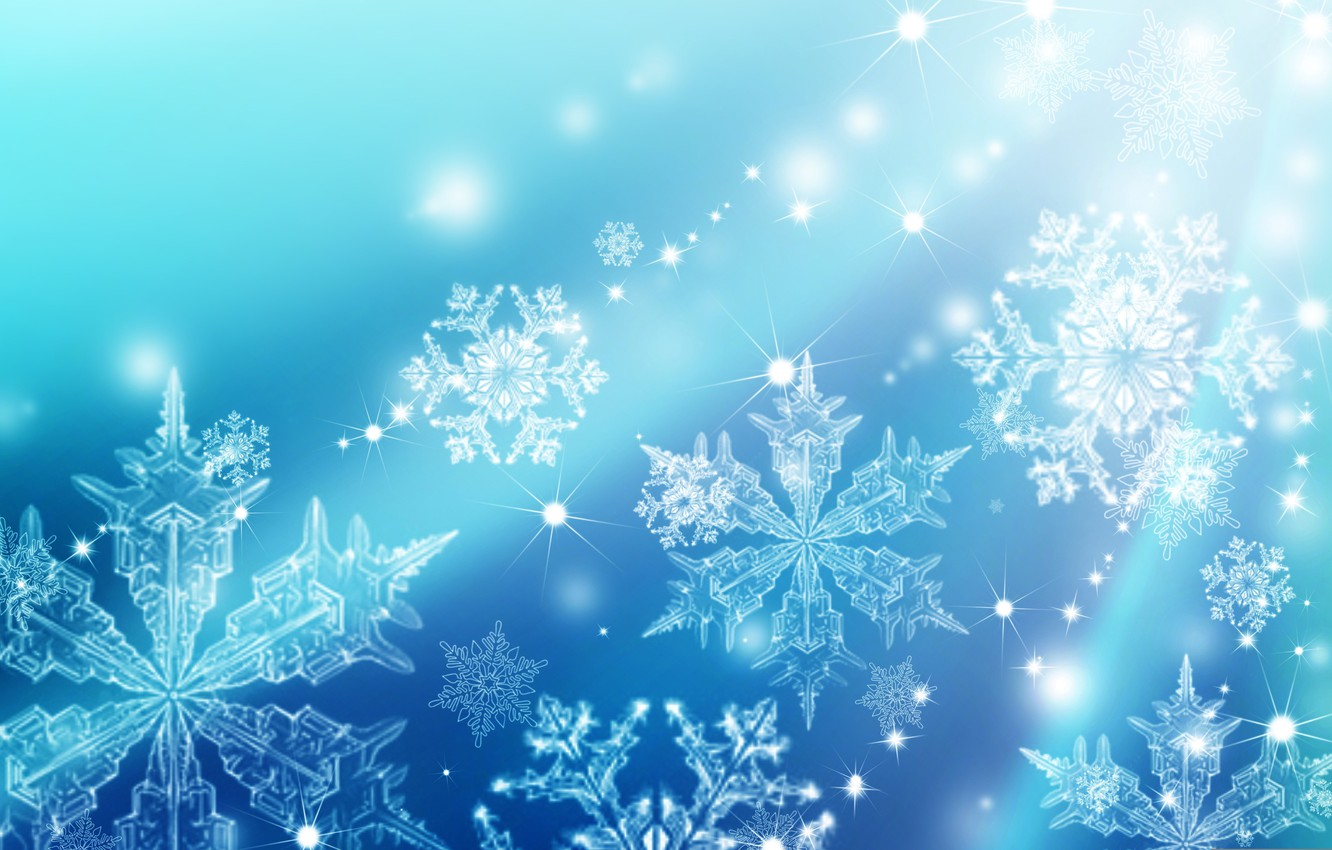 Photo wallpaper winter, snowflakes, background, texture