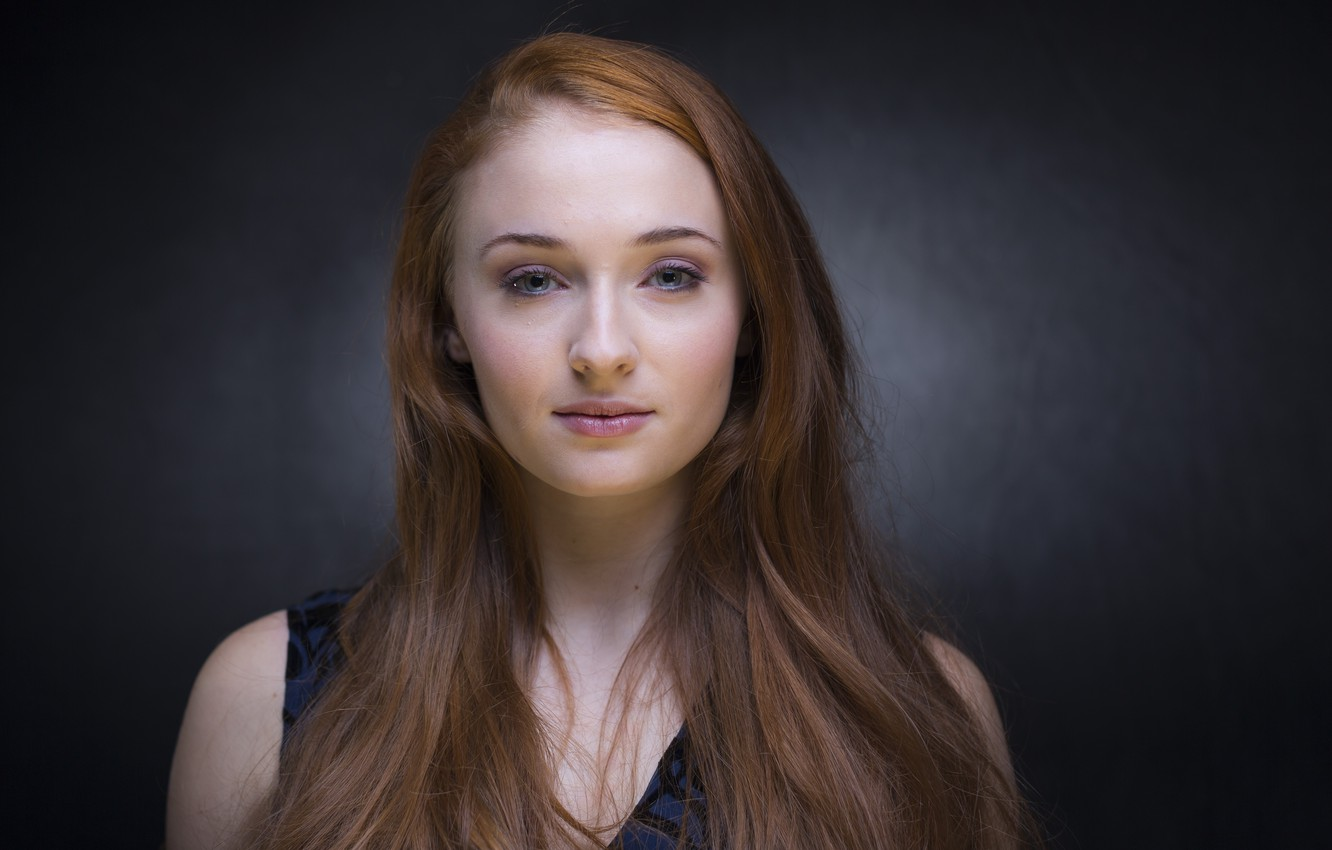 Photo wallpaper girl, model, actress, red, the series, Game Of Thrones, Game of Thrones, Sophie Turner, Sophie …