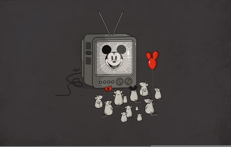 Photo wallpaper fans, Mickey Mouse, Idol, mice