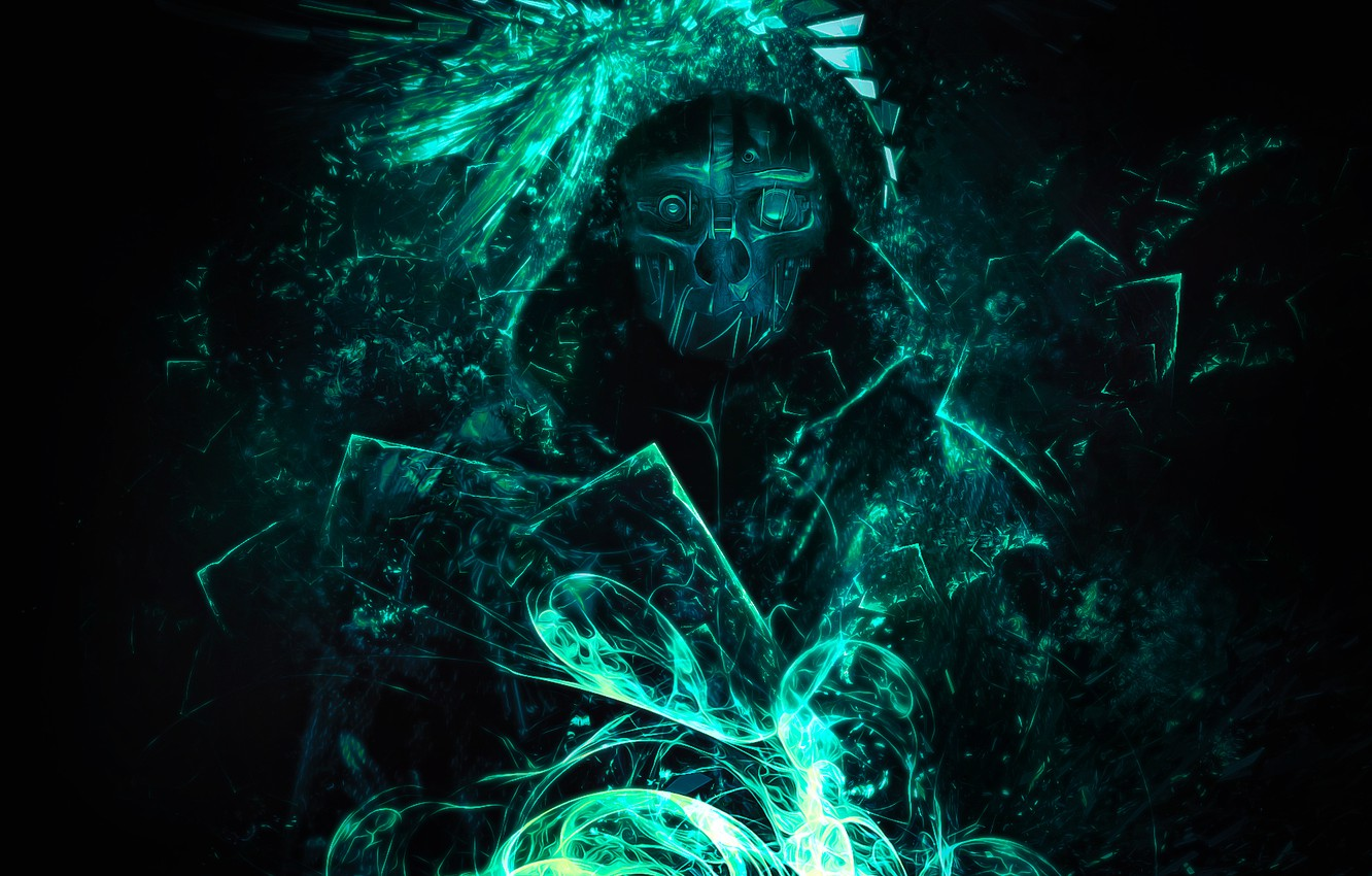 Photo wallpaper abstraction, mask, video game, dishonored