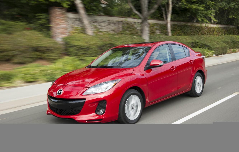 Photo wallpaper red, speed, Mazda, Red, Sport, 2013