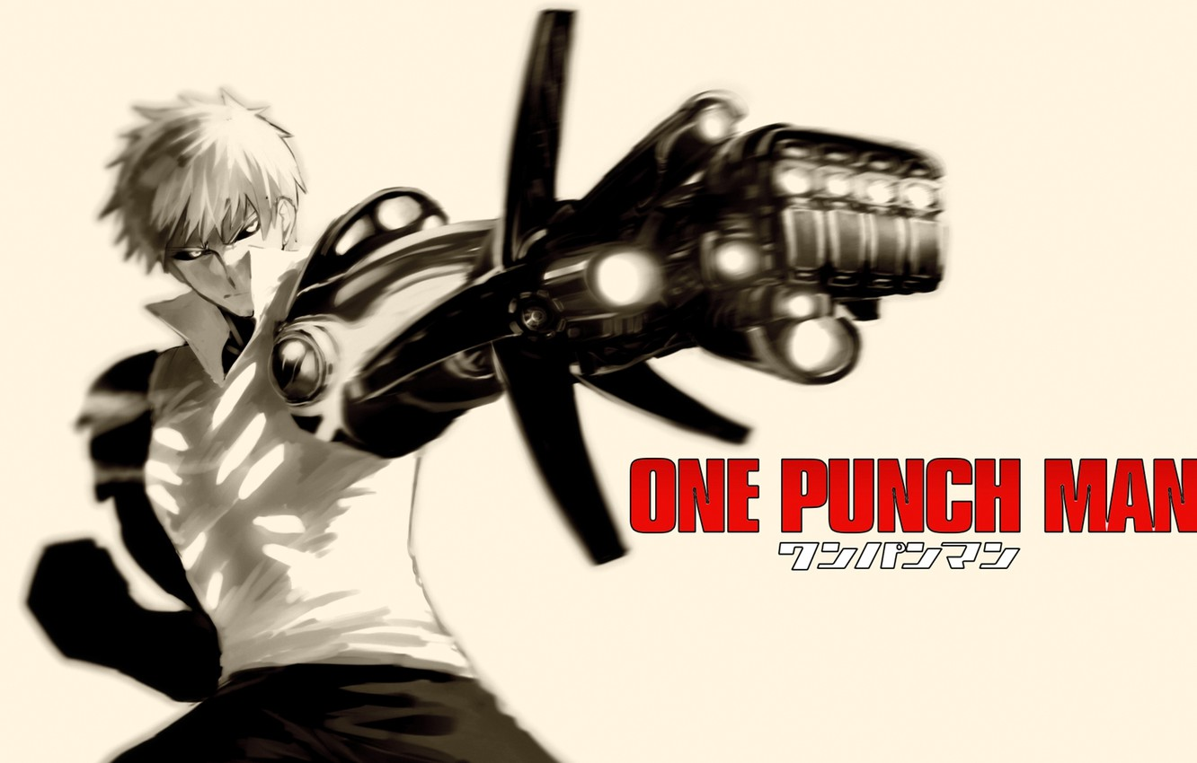 Photo wallpaper weapons, fiction, anime, cyborg, cyberpunk, One Punch Man, OnePunch-Man, Geno