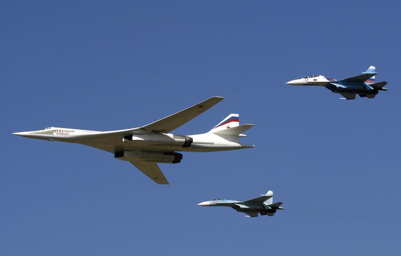 Photo wallpaper Su-27, White Swan, Su-30, Tu 160, Black Jack