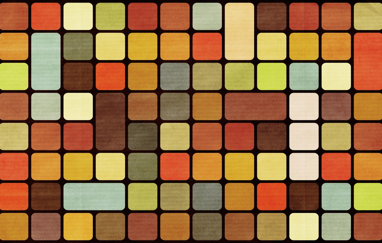 Photo wallpaper abstraction, cubes, colorful