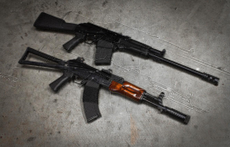 Photo wallpaper background, machine, Kalashnikov, carabiner, The AKS-74, Saiga-12K