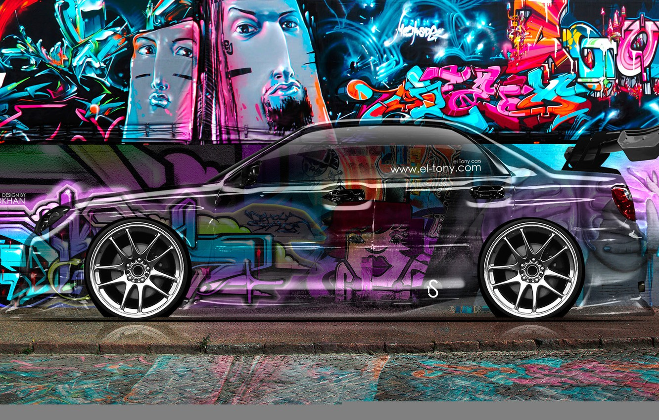 Wallpaper Subaru Impreza Style Graffiti Wrx Photoshop