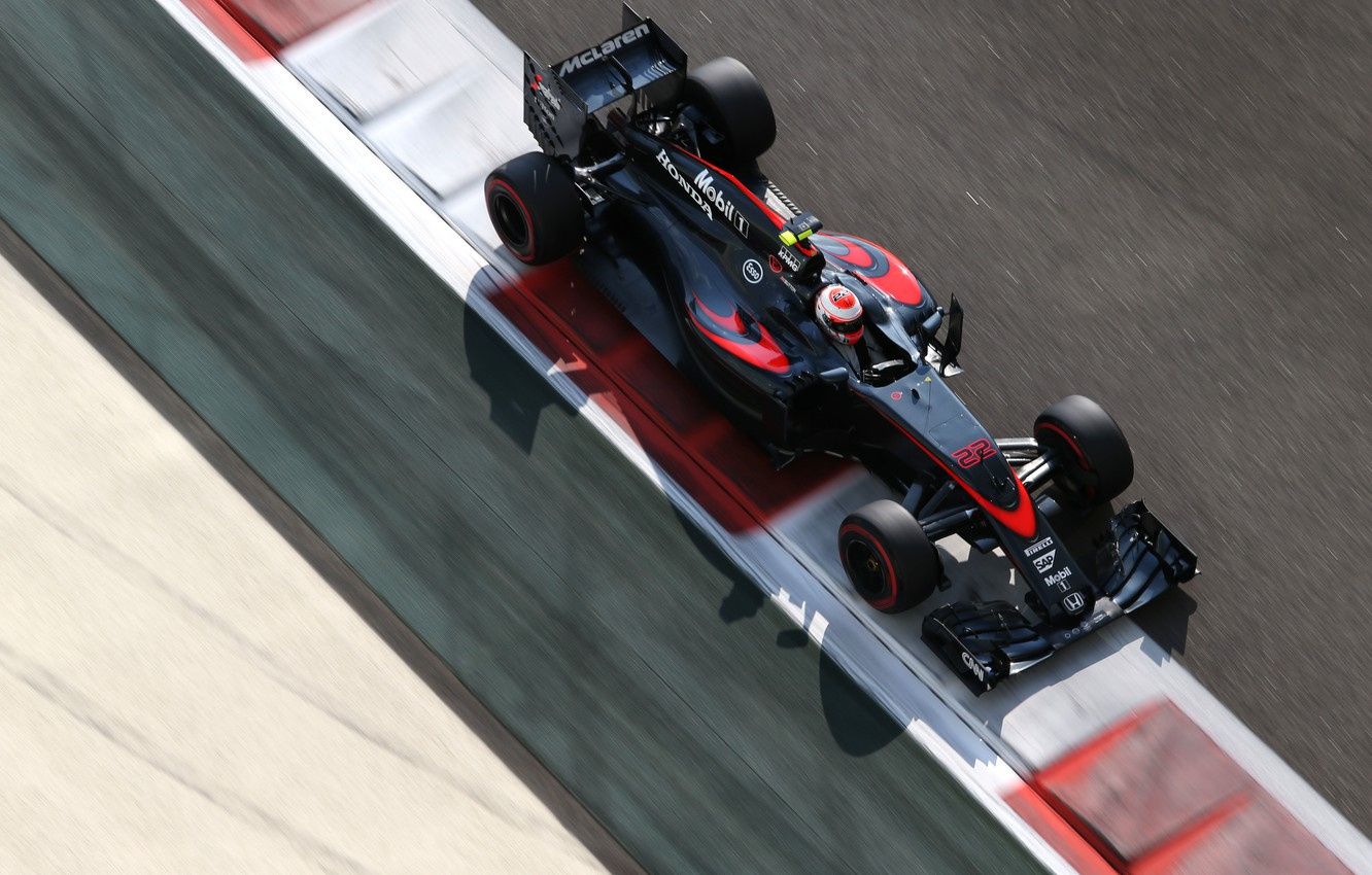 Photo wallpaper McLaren, Formula 1, The view from the top, Jenson Button