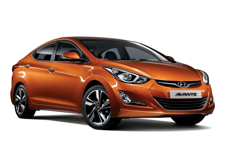 Photo wallpaper orange, Hyundai, 2013, Elantra, Hyundai, Elantra, Avante