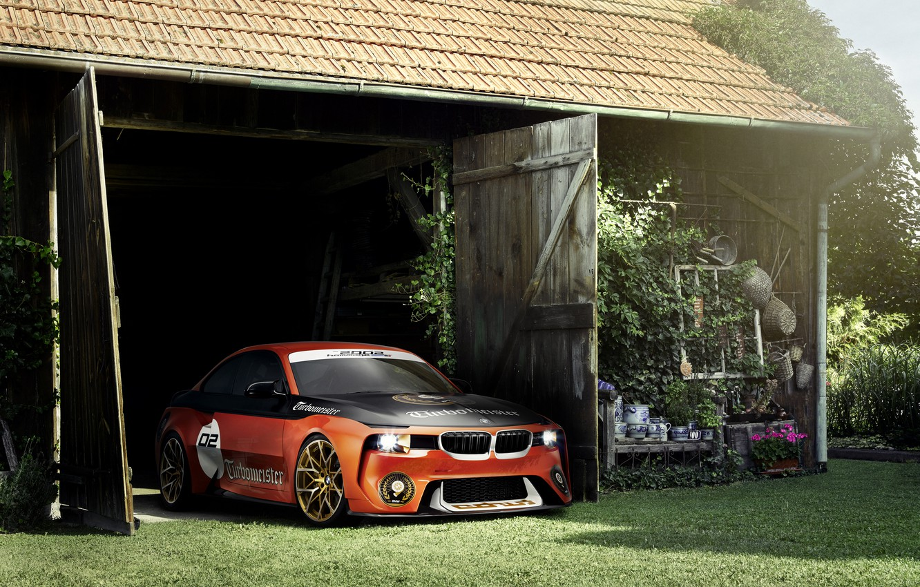 Photo wallpaper Concept, BMW, Tuning, Orange, Car, 2002, Hommage, 2016