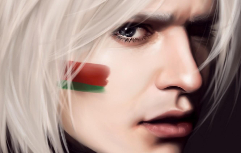 Photo wallpaper face, anime, flag, art, guy, axis powers hetalia and axis countries, belarus, hetalia, mochifin