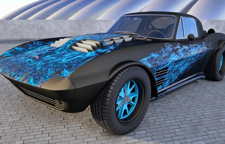 Photo wallpaper Chevrolet Corvette, Tuning, Grand Sport