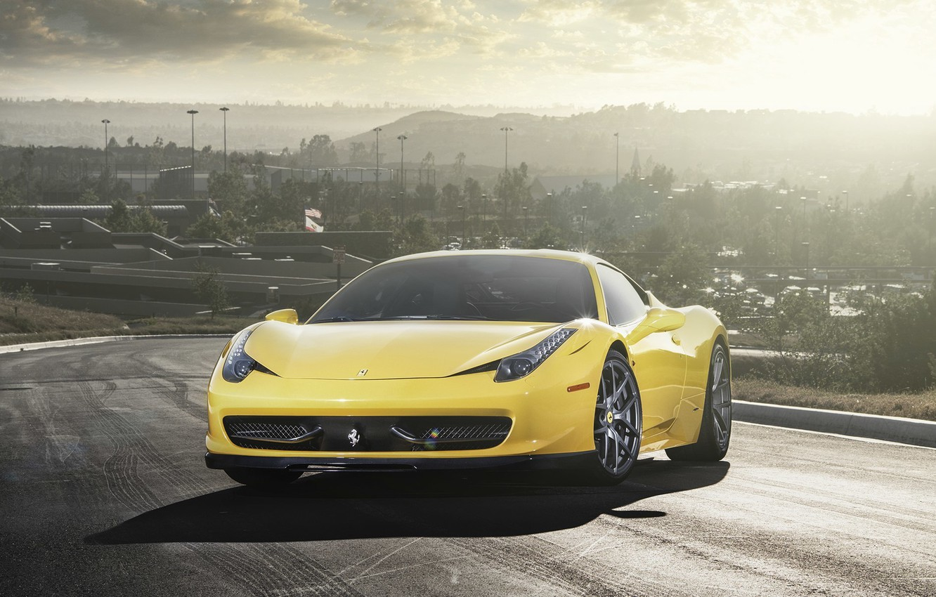 Photo wallpaper Ferrari, 458, Vorsteiner, Italia, 2013