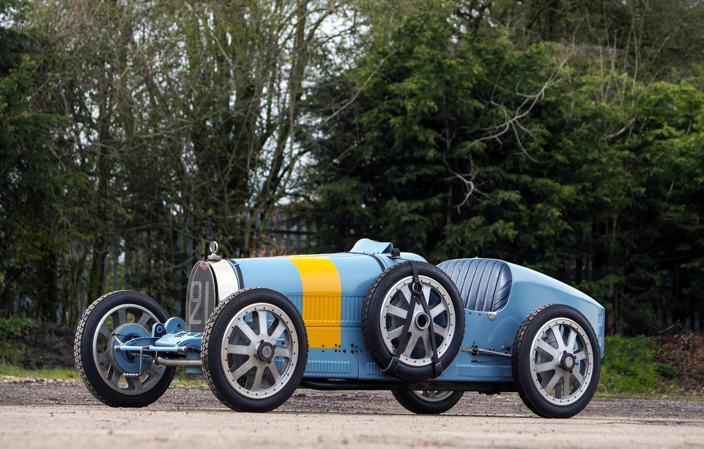 Photo wallpaper Bugatti, Blue, Car, Type, 1924-30, BUGATT, I Retro