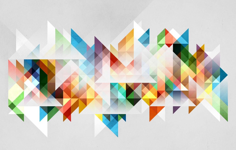 Photo wallpaper colors, triangles, tones