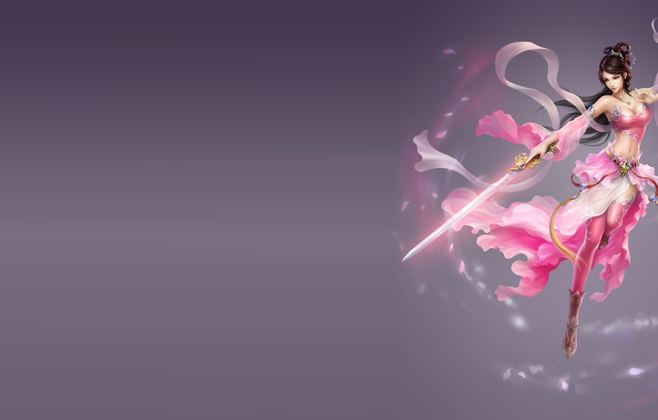 Photo wallpaper girl, fantasy, weapons, the game, sword, warrior, art