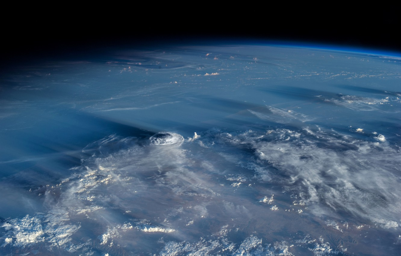 Photo wallpaper clouds, planet, the atmosphere, Earth, cyclone
