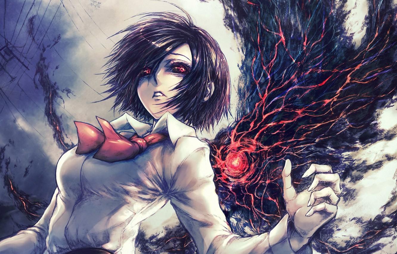 Photo wallpaper eyes, girl, art, Tokyo Ghoul, Tokyo ghoul, Kirishima Bring, ghoul, Tokyo monster