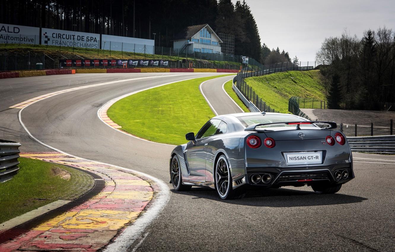 Photo wallpaper track, Nissan, GT-R, car, Nissan, back
