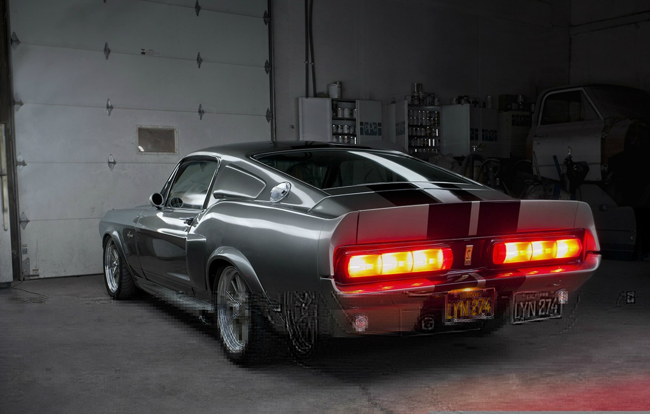 Photo wallpaper Mustang, Ford, Shelby, GT500, Eleanor, Muscle car