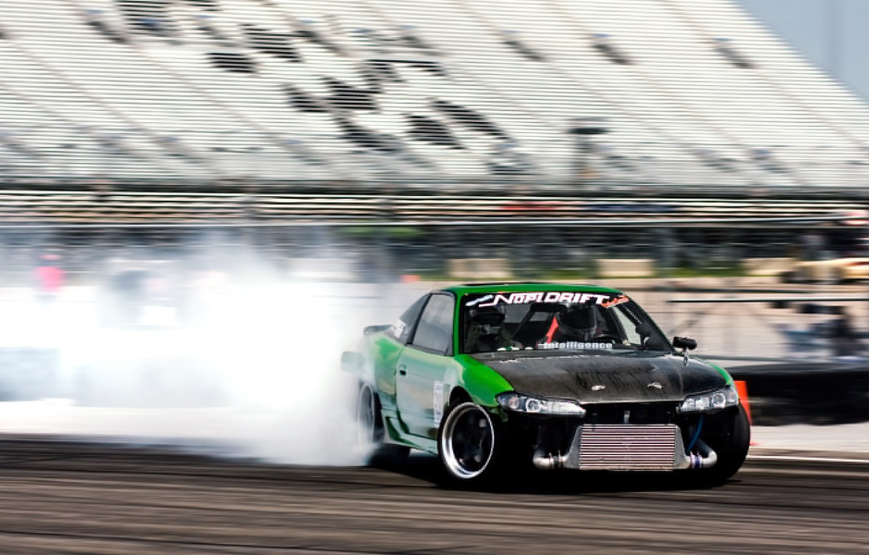 Photo wallpaper smoke, drift, S15, Silvia, Nissan