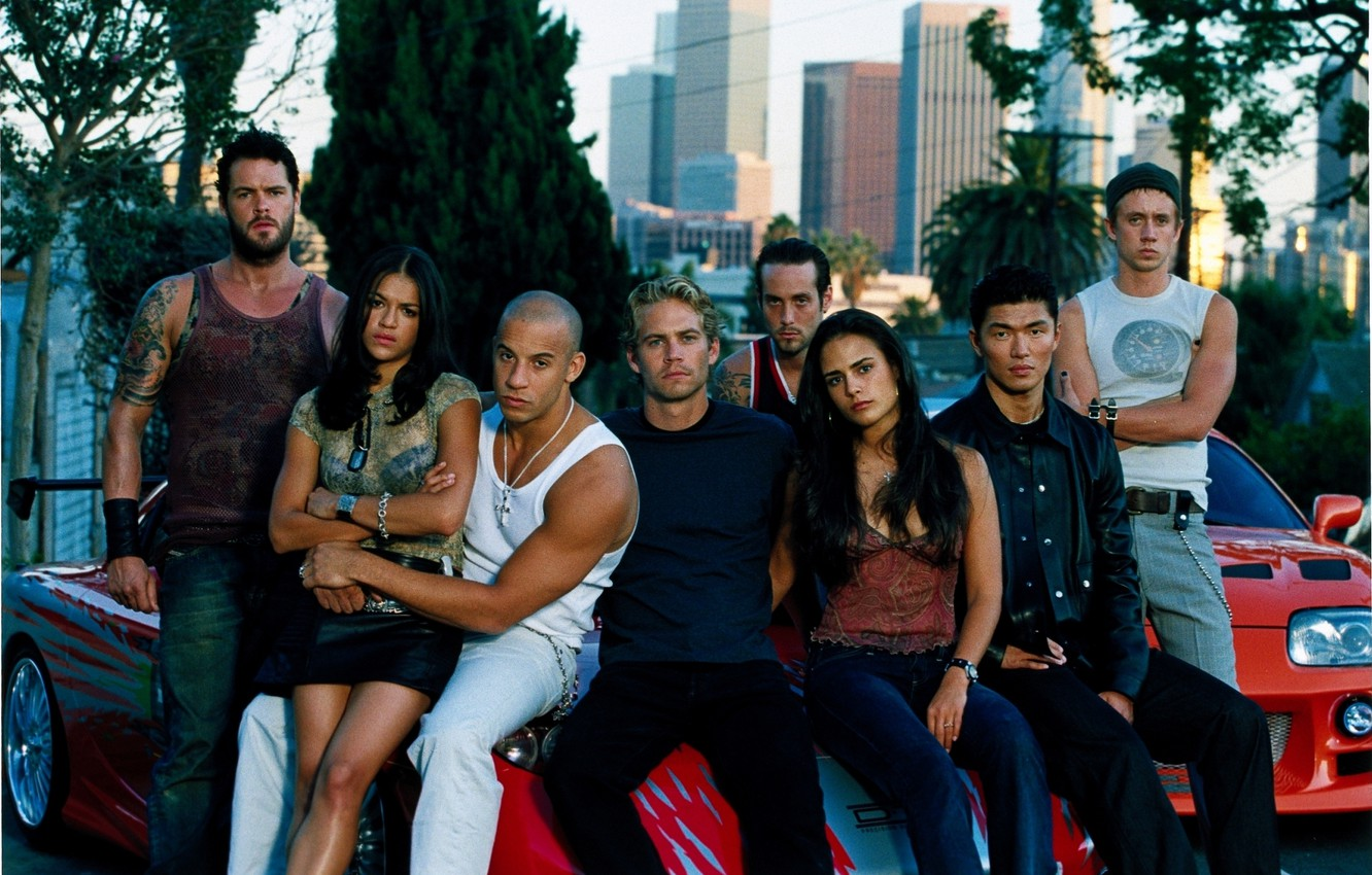 Photo wallpaper VIN Diesel, Jordana Brewster, Jordana Brewster, Michelle Rodriguez, Paul Walker, The fast and the furious, …