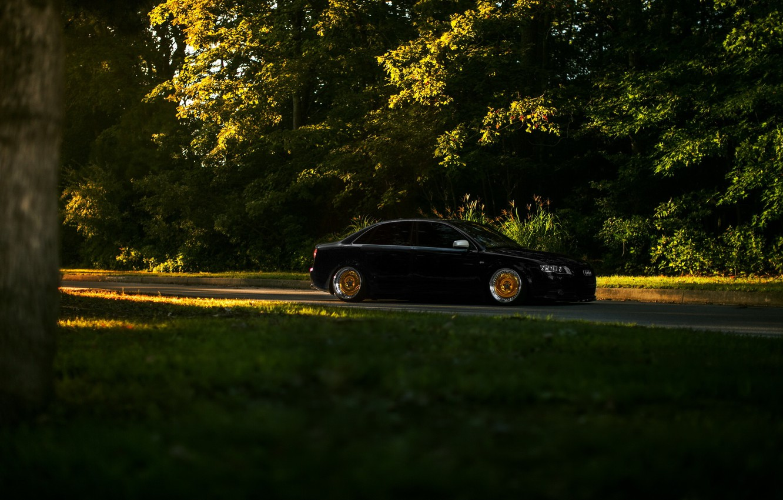 Photo wallpaper car, black, audi a4