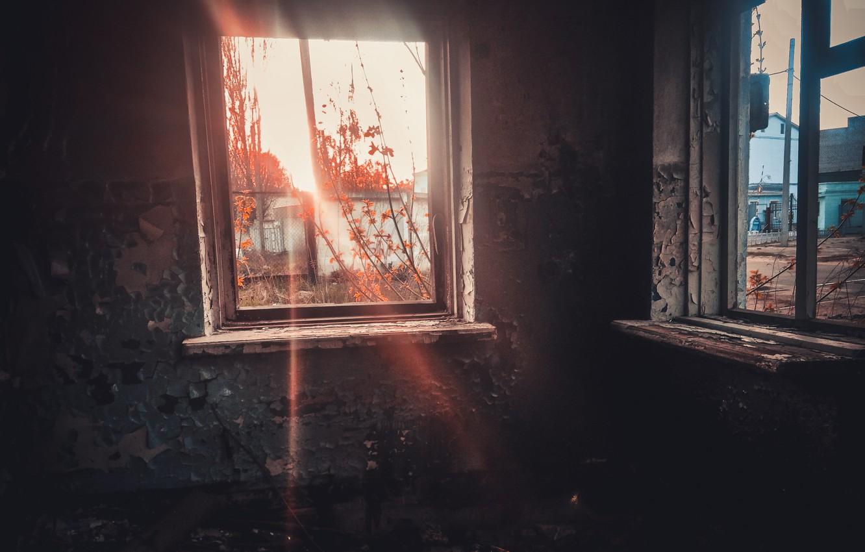 Photo wallpaper sadness, the sun, sunset, yellow, the city, room, dark, dark, tumblr