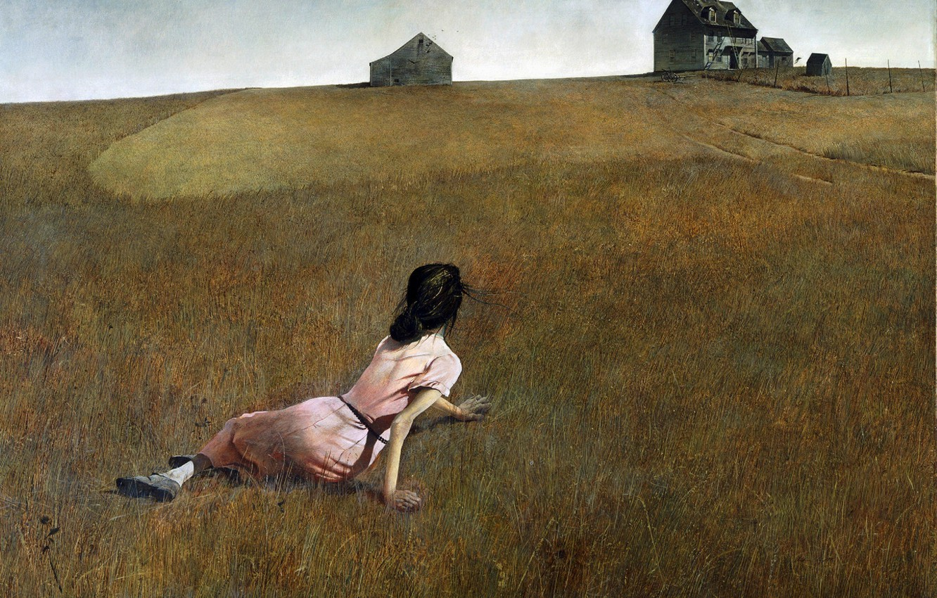 Photo wallpaper picture, 1948, Christina's world, Andrew Wyeth