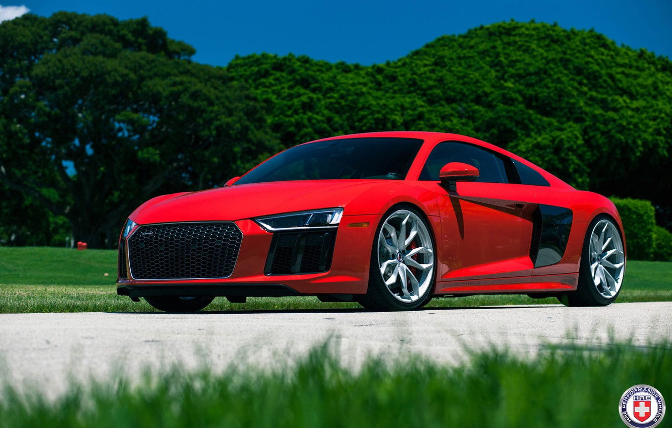 Photo wallpaper Audi, with, HRE, R8, in, Naked Silver, P201