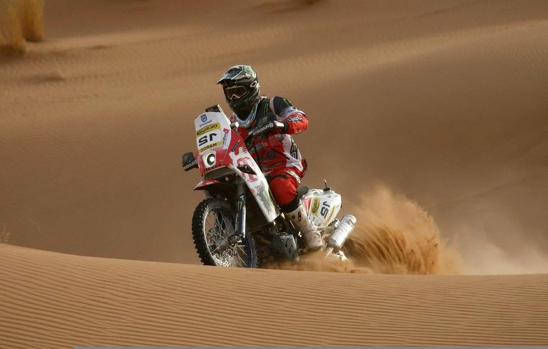 Photo wallpaper sand, sport, motorcycle, race