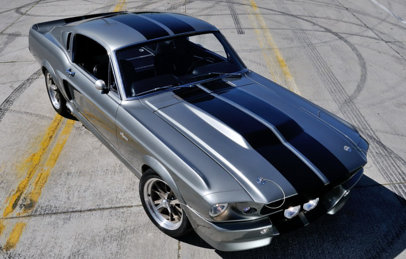 Photo wallpaper machine, Mustang, Ford, GT500, Mustang, Eleanor, muscle car, the front