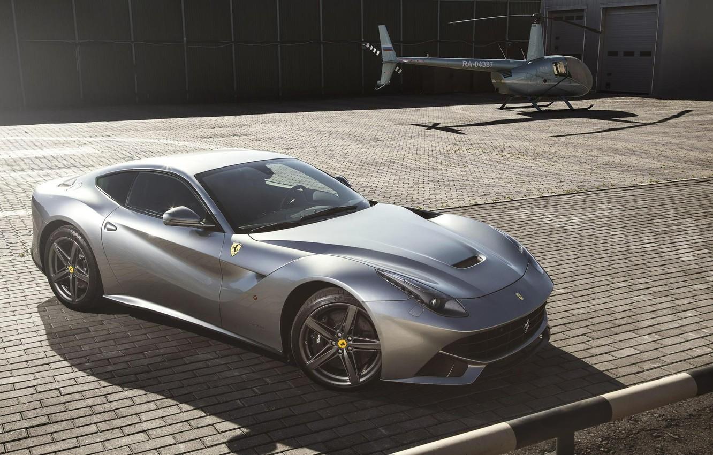 Photo wallpaper Helicopter, Ferrari, Supercar, Helicopter, Supercar, Berlinetta, F12