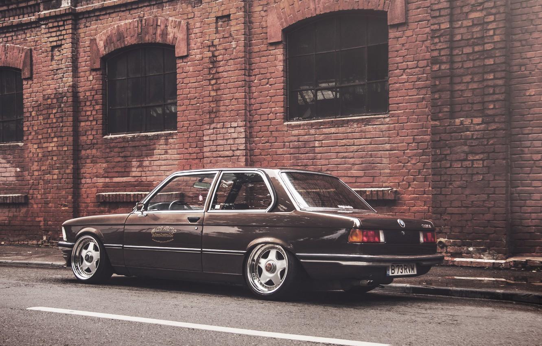 Photo wallpaper BMW, coupe, BMW, black, The 3 series, E21