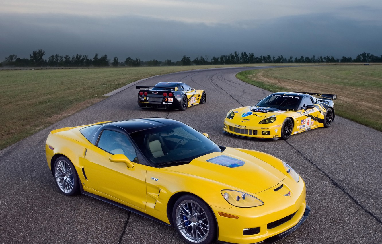 Photo wallpaper Corvette, Chevrolet, track