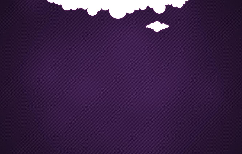 Photo wallpaper purple, clouds, background, minimalism