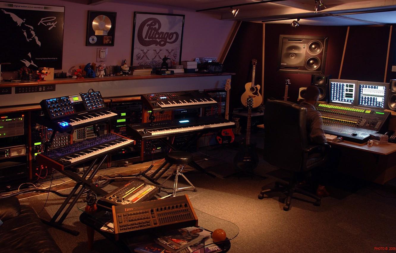 Photo wallpaper Guitar, Studio, Midi