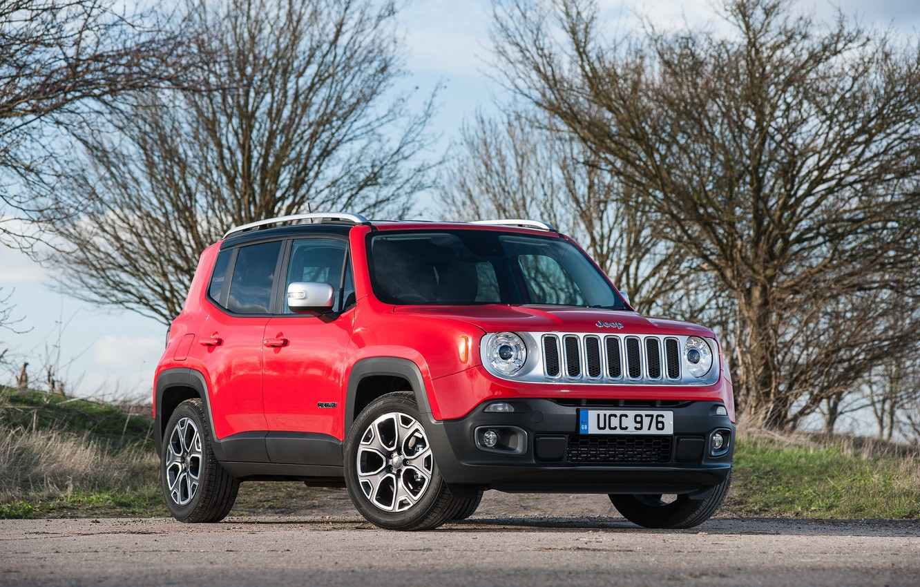 Photo wallpaper jeep, SUV, Jeep, UK-spec, Limited, 2015, Renegade