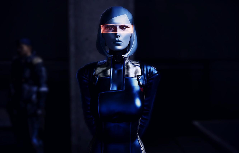 Wallpaper Mass Effect, EDI, Susie, visor images for desktop, section игры -  download