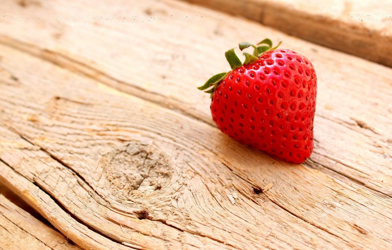 Photo wallpaper macro, tree, strawberry, berry, wooden, Board