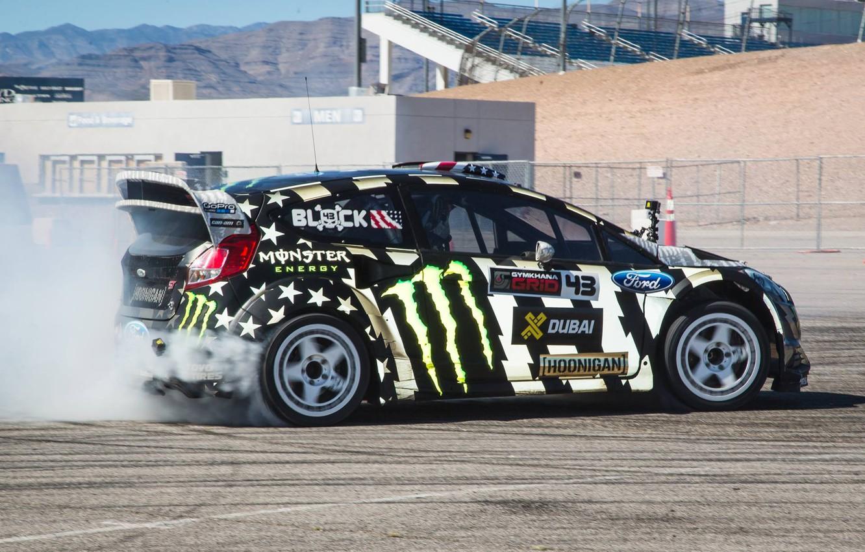 Photo wallpaper Ford, Skid, Ken Block, Fiesta, RallyCross