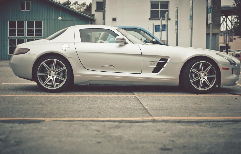 Photo wallpaper mercedes, Mercedes, benz, side, sls, amg, AMG, SLS, Benz
