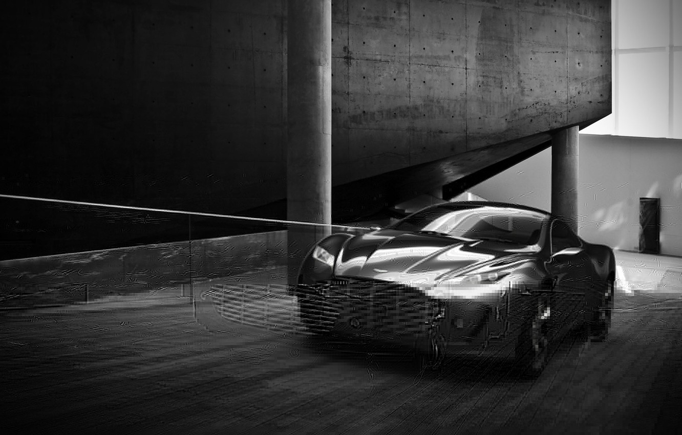 Photo wallpaper Aston Martin, Road, Speed, The concept, New, Gauntlet