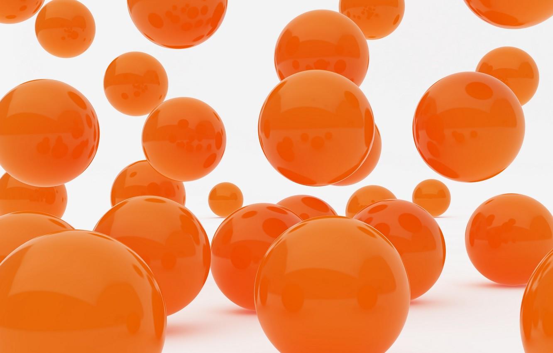 Обои orange, balls. Абстракции foto 10