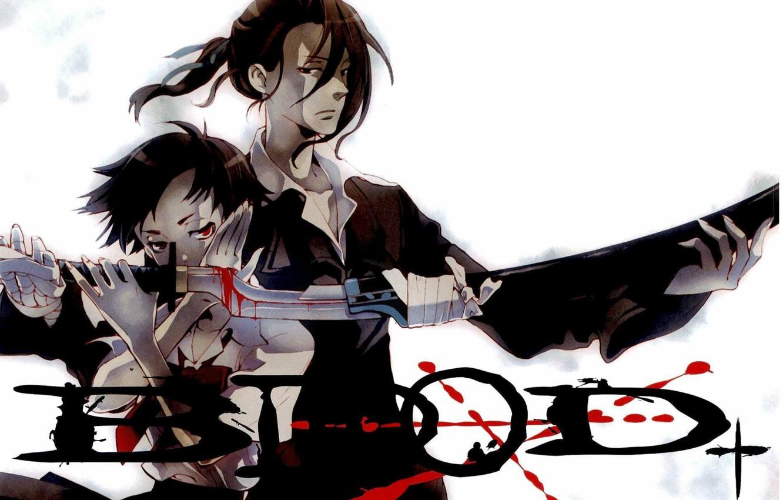 Photo wallpaper sword, hatred, Blood+, blood, evil eye, Hagi, Saya Otonashi