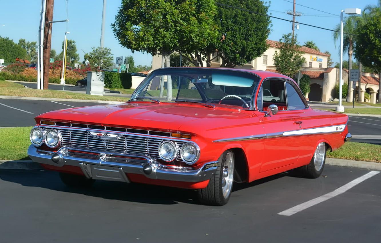 Photo wallpaper Chevrolet, Impala, Hardtop, 1961